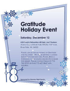 Gratitude Holiday Event